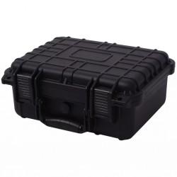 stradeXL Walizka ochronna czarna 35x29,5x15 cm