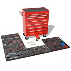 stradeXL Wózek warsztatowy z 1125 narzędziami, stalowy, czerwony