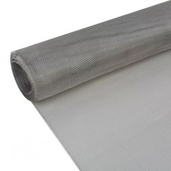 stradeXL Siatka na insekty, stal nierdzewna, 150 x 500 cm, srebrna