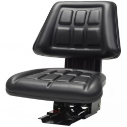 stradeXL Tractor Seat with Suspension Black