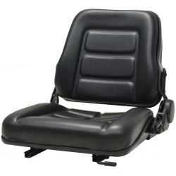 stradeXL Fotel do ciągnika/wózka widłowego z regulowanym oparciem,czarny