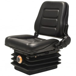 stradeXL Forklift & Tractor Seat with Suspension and Adjustable Backrest