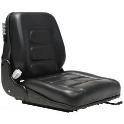 stradeXL Fotel do wózka widłowego/ciągnika z zawieszeniem i oparciem