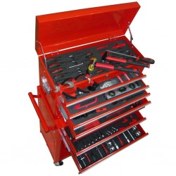 stradeXL Wózek warsztatowy z narzędziami, 7 szuflad