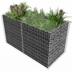 stradeXL Gabion Raised Bed Steel 180x90x100 cm Silver