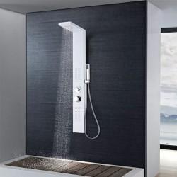 stradeXL Panel prysznicowy, aluminiowy, matowy, biały