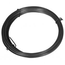 stradeXL Drut naciągowy do ogrodzenia, 25 m, 1,4/2 mm, stalowy, szary