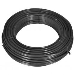 stradeXL Drut naciągowy do ogrodzenia, 80 m, 2,1/3,1 mm, stalowy, szary