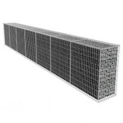 stradeXL Ściana gabionowa z pokrywą, galwanizowana stal, 600x50x100 cm
