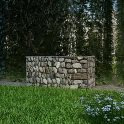 stradeXL Kosz gabionowy, stal galwanizowana, 100 x 50 x 50 cm