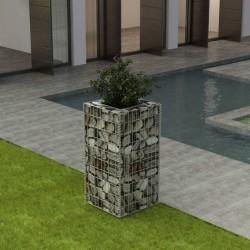 stradeXL Podwyższona donica, ze stali, 50 x 50 x 100 cm