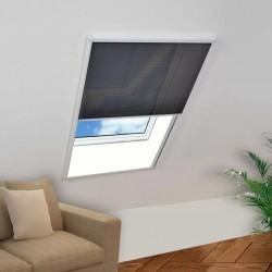 stradeXL Plisowana moskitiera okienna, aluminium, 60x80 cm