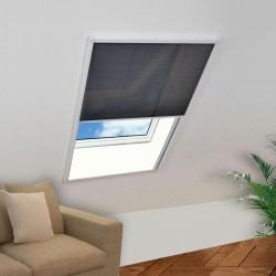 stradeXL Plisowana moskitiera okienna, aluminium, 80x100 cm