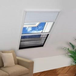 stradeXL Plisowana moskitiera okienna z roletą, aluminium, 60x80 cm