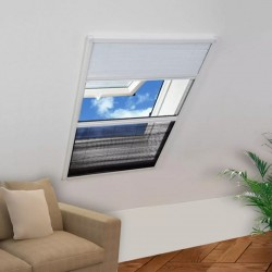 stradeXL Plisowana moskitiera okienna z roletą, aluminium, 80x100 cm