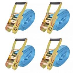 stradeXL Taśmy mocujące z napinaczami, 4 szt., 4 T, 8m x 50mm, niebieski
