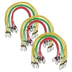 stradeXL Linki Bungee, 30 szt, 60/80/100 cm, czerwona, żółta, zielona