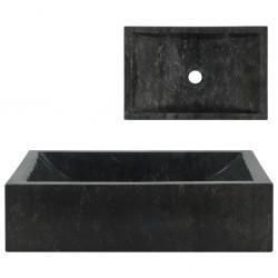 stradeXL Umywalka, 45 x 30 x 12 cm, marmurowa, czarna