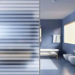 stradeXL Folia na szybę, mrożone szkło w paski, samoprzylepna, 0,9 x 10 m