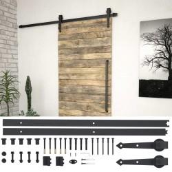 stradeXL System do mocowania drzwi przesuwnych, 183 cm, stal, czarny