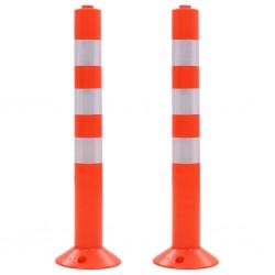 stradeXL Słupki drogowe z plastiku, 2 szt., 75 cm