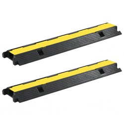 stradeXL Cable Protector Ramps 2 pcs 1 Channel Rubber 100 cm