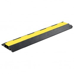 stradeXL Cable Protector Ramp 2 Channels Rubber 101.5 cm
