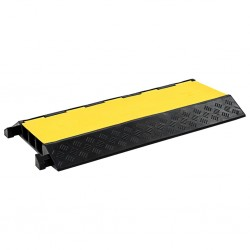 stradeXL Cable Protector Ramp 3 Channels Rubber 93 cm