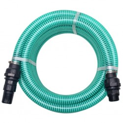 stradeXL Suction Hose with Connectors 7 m 22 mm Green