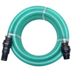 stradeXL Wąż ssący ze złączkami, 10 m, 22 mm, zielony