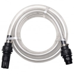 stradeXL Suction Hose with Connectors 4 m 22 mm White