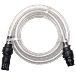 stradeXL Wąż ssący ze złączkami, 4 m, 22 mm, biały