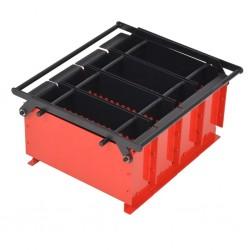 stradeXL Brykieciarka do papieru, stalowa, 38x31x18 cm, czarno-czerwona