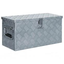 stradeXL Aluminiowa skrzynia, 61,5 x 26,5 x 30 cm, srebrna