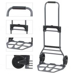 stradeXL Składany wózek ręczny, aluminiowy, 130 kg