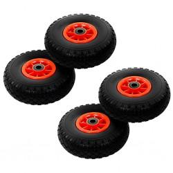 stradeXL Sack Truck Wheels 4 pcs Solid PU 3.00-4 (260x85)