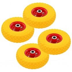 stradeXL Sack Truck Wheels 4 pcs Rubber 3.00-4 (260x85)