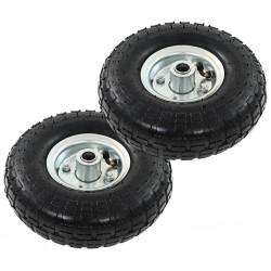 stradeXL Sack Truck Wheels 2 pcs Rubber 4.10/3.50-4 (260x83)