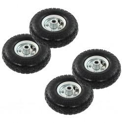 stradeXL Sack Truck Wheels 4 pcs Rubber 4.10/3.50-4 (260x83)