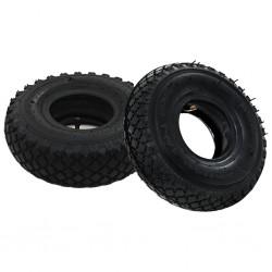 stradeXL 2 Tyres 2 Inner Tubes 3.00-4 260x85 for Sack Truck Wheel Rubber