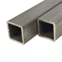 stradeXL Rury ze stali konstrukcyjnej, 2 szt., kwadratowe, 2 m, 60x60x2 mm