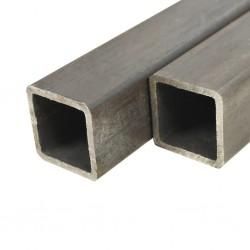 stradeXL Rury ze stali konstrukcyjnej, 2 szt., kwadratowe, 2 m, 80x80x2 mm