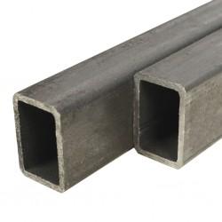 stradeXL Rury ze stali konstrukcyjnej, 4 szt, prostokątne, 1 m, 40x30x2 mm