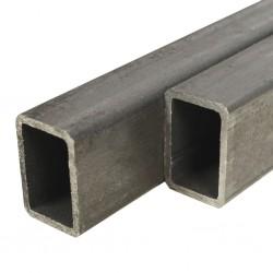 stradeXL Rury ze stali konstrukcyjnej, 2 szt, prostokątne, 2 m, 60x30x2 mm