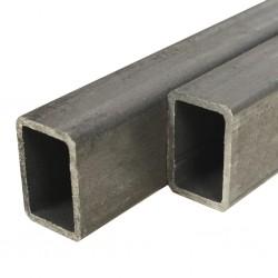stradeXL Rury ze stali konstrukcyjnej, 2 szt, prostokątne, 2 m, 60x40x3 mm