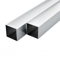 stradeXL Rury aluminiowe, 6 szt., przekrój kwadratowy, 2 m, 25x25x2 mm