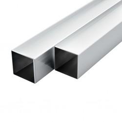 stradeXL Rury aluminiowe, 6 szt., przekrój kwadratowy, 1 m, 30x30x2 mm