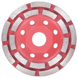 stradeXL Diamentowa tarcza szlifierska z podwójnym rzędem, 115 mm
