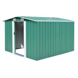 stradeXL Garden Shed 257x298x178 cm Metal Green