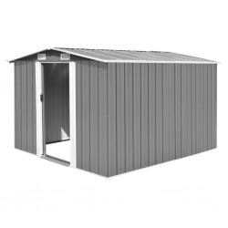 stradeXL Garden Shed 257x298x178 cm Metal Grey